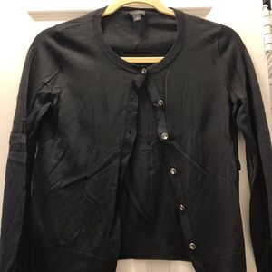 Black cardigan w it h crystal details